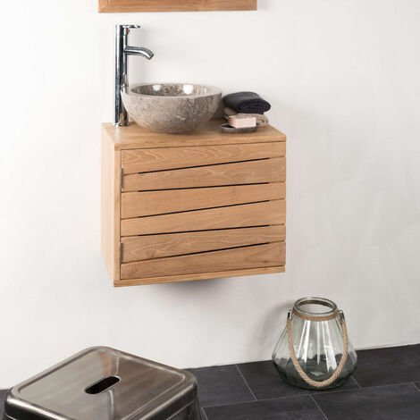 Meuble salle de bain suspendu COSY 50X30 cm
