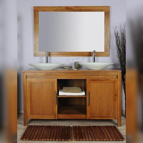 Meuble salle de bain teck 140 grey naturel - 163
