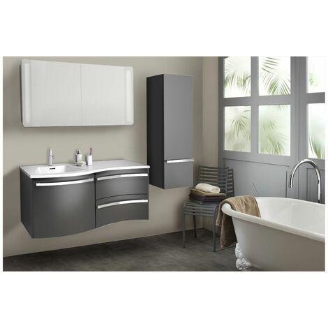 Meuble salle de bain + vasque - à suspendre 120 cm POLY