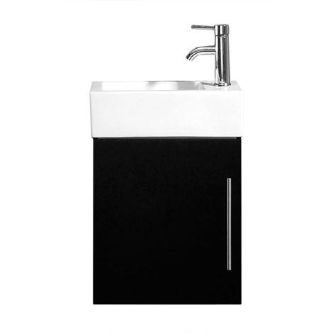 Meuble salle de bain Venus noir satiné