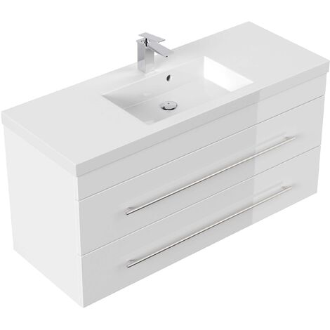 Meuble salle de bain Versus blanc brillant