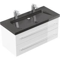 Meuble double vasque 100 cm à prix mini