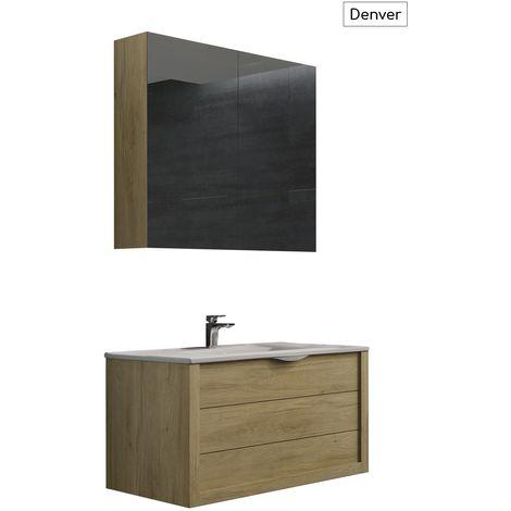 Batinea meuble de salle de bain emma colorado 80 1 tiroir simple vasque bbn0002 c - Meuble vasque 80 ...