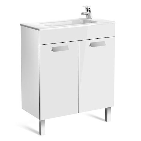 Meuble simple vasque Debba Compact 70cm Anthracite 2 portes