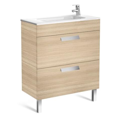 Meuble simple vasque Debba Compact 70cm Anthracite 2 tiroirs