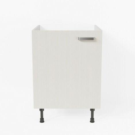 Meuble sous évier - 60 cm - Pin Blanc