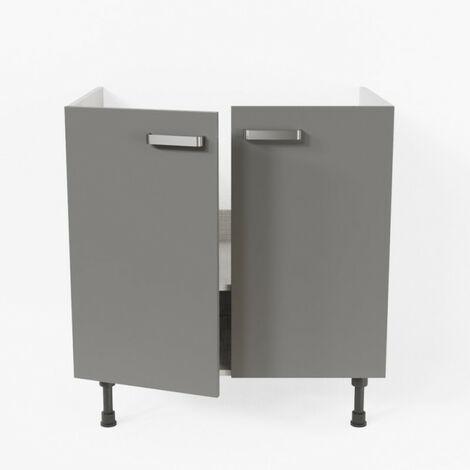 Meuble sous évier - 80 cm - Macadam