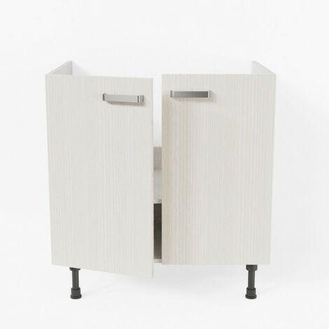 Meuble sous évier - 80 cm - Pin Blanc