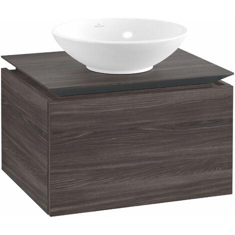 Meuble sous-lavabo Villeroy & Boch Legato B101, 600x380x500mm, central lavabo, Coloris: Chêne Graphite - B10100FQ