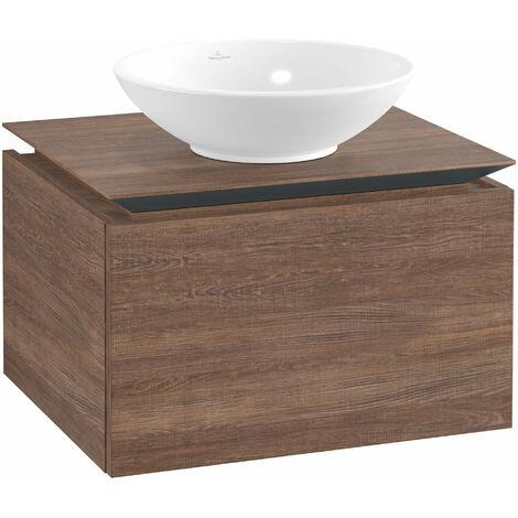 Meuble sous-lavabo Villeroy & Boch Legato B101, 600x380x500mm, central lavabo, Coloris: Chêne Santana - B10100E1
