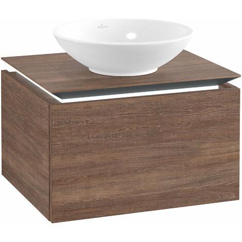 Meuble sous-lavabo Villeroy & Boch Legato B101, 600x380x500mm, centre lavabo, éclairage LED, Coloris: Chêne Santana - B101L0E1