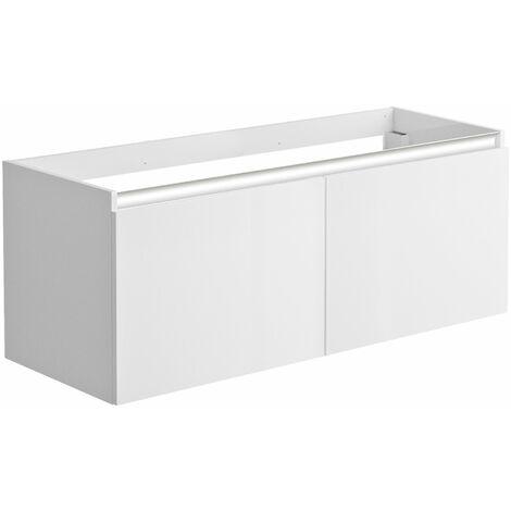 Meuble sous-vasque 120 cm 2 portes PESARO blanc alpin brillant - Blanc Alpin