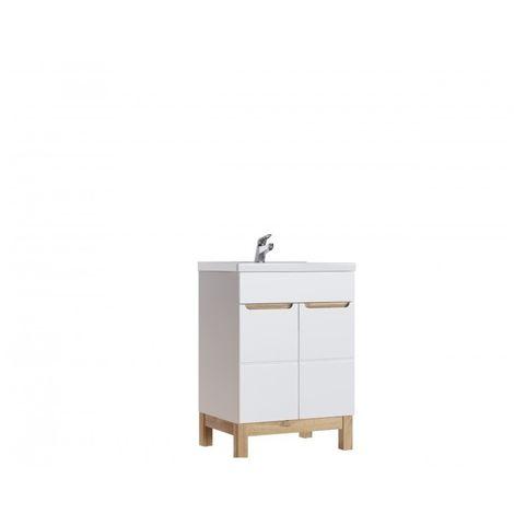Meuble sous vasque - 60 x 45 x 85 cm - Bali White