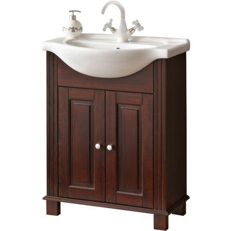 Meuble sous vasque - 65 x 32 x 81 cm - Rétro - Livraison gratuite