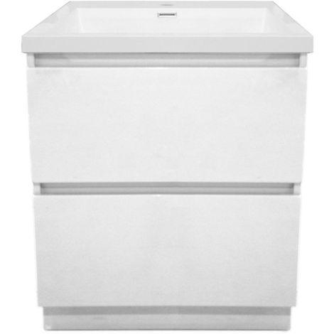 Meuble sous vasque ALTERNA Primeo 70 cm au sol 2 tiroirs, blanc, Ref.1A070028.GD.PW