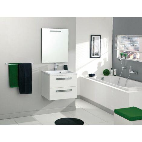 Meuble sous-vasque ALTERNA SEDUCTA 60 cm, 2 tiroirs, blanc brillant