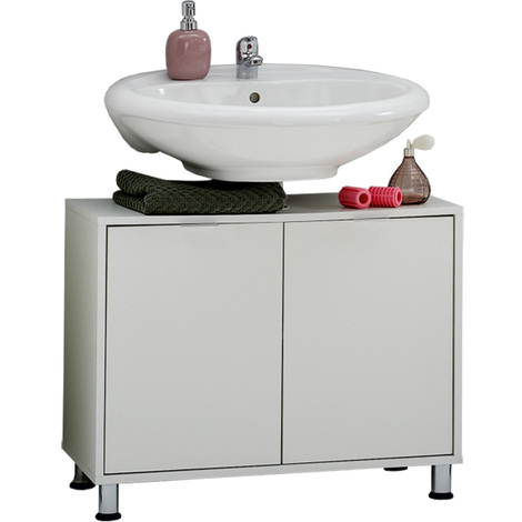 meuble sous vasque avec 2 portes colois blanc dim l 70. Black Bedroom Furniture Sets. Home Design Ideas