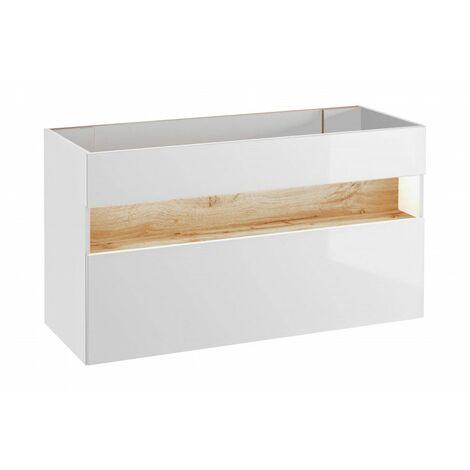 Meuble sous vasque avec LED - 68 x 120 x 46 cm- Bahama White - Livraison gratuite
