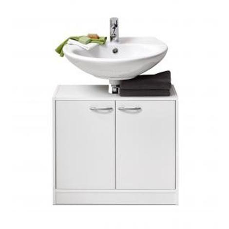 Meuble sous vasque coloris blanc - Dim : 63,7 x 55 x 28,1cm -PEGANE-