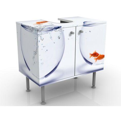 Meuble sous vasque Flying Goldfish 60x55x35cm Dimension: 55cm x 60cm