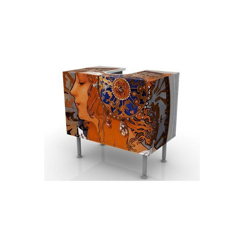 Meubles Meuble Sous Vasque Design The 7 Virtues Meuble Bas Salle De Bains Baignoire Armoire De Salle Bains Table De Lavabo 60 Cm De Large Temperance 60x55x35cm Armoire De Lavabo Lavabo Petit