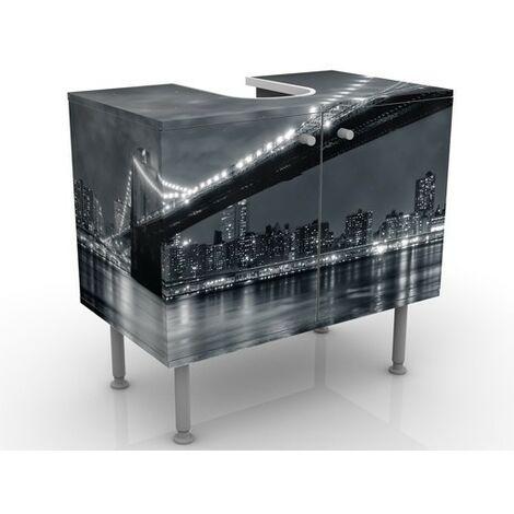 Meuble sous vasque Manhattan Mystères - Dimension: 55cm x 60cm