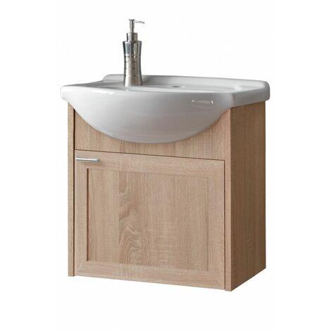 Meuble sous vasque mural - 48 x 30 x 49 cm - Piano Sonoma - Livraison gratuite