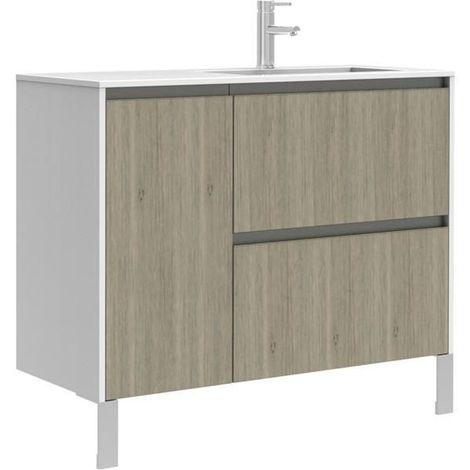 meuble sous vasque plenitude 105 cm 2 tiroirs 1 porte pour. Black Bedroom Furniture Sets. Home Design Ideas