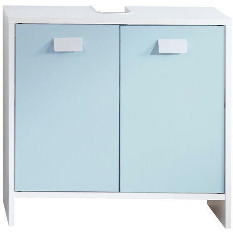 Meuble sous vasque salle de bain bleu - CaliCosy