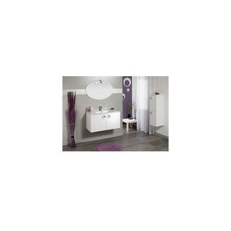 meuble sous vasque seducta 60 cm 2 portes blanc brillant. Black Bedroom Furniture Sets. Home Design Ideas