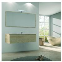 Meuble sous vasque suspendu 1 tiroir graphite 80cm avec plan vasque - Blanc