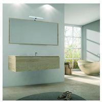 Meuble sous vasque suspendu 1 tiroir nebraska 80cm avec plan vasque - Blanc