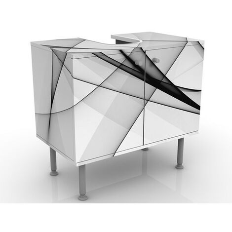 Meuble sous vasque Vibration 60x55x35cm Dimension: 55cm x 60cm