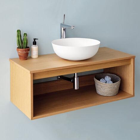 Meuble suspendu Uno wood pour vasque à poser