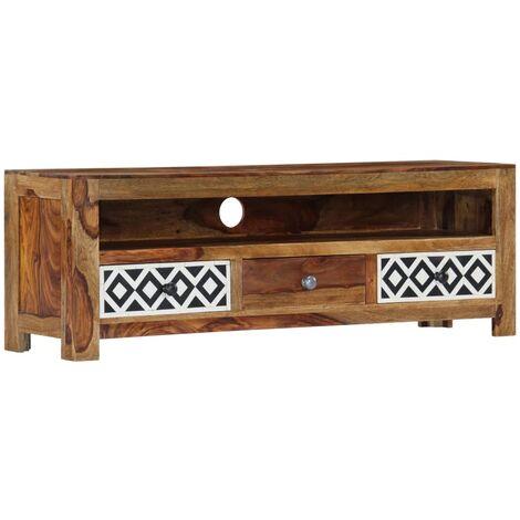 Meuble télé buffet tv télévision design pratique 120 cm bois de sesham solide