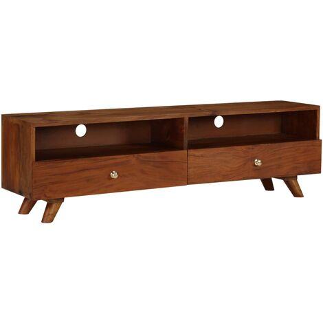 Meuble télé buffet tv télévision design pratique bois de récupération solide 140 cm