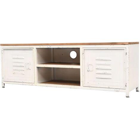 Meuble TV 120 x 30 x 40 cm Blanc