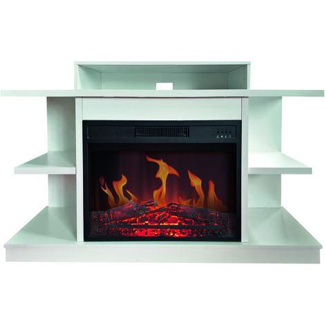 meuble tv avec cheminée électrique 2000w - 147 - chemin'arte