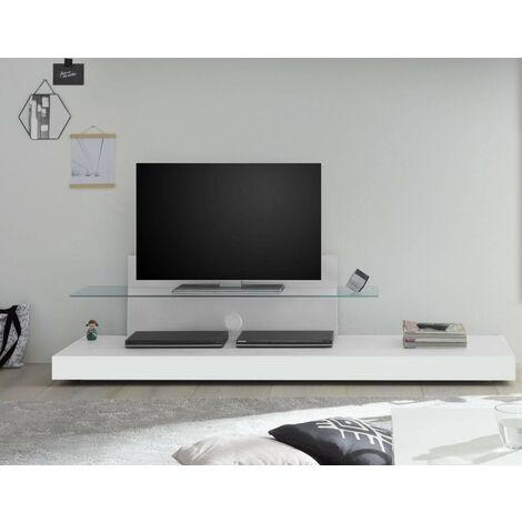 Meuble TV avec une étagère en verre TRATTO