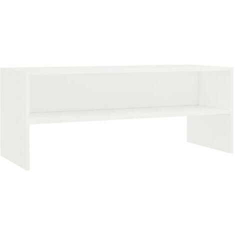 Meuble TV Blanc 100 x 40 x 40 cm Aggloméré