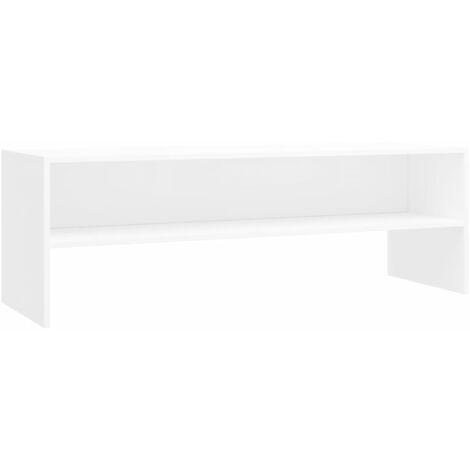 Meuble TV Blanc 120 x 40 x 40 cm Aggloméré