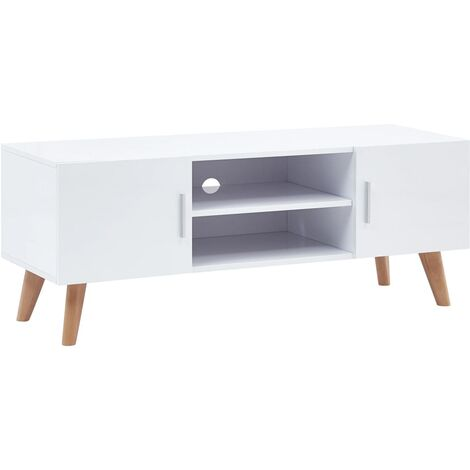 Meuble TV Blanc 120x40x46 cm MDF