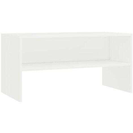 Meuble TV Blanc 80 x 40 x 40 cm Aggloméré