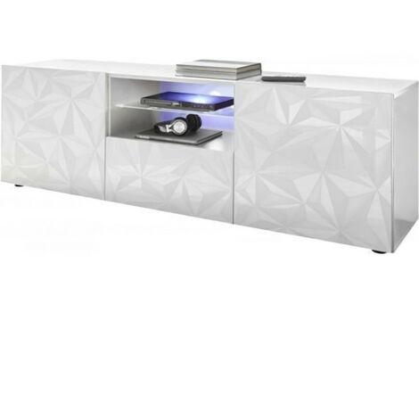 """main image of """"Meuble TV - Blanc Laqué brillant - L 181 x P 43 x H 57cm - PARIGI"""""""