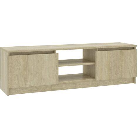 Meuble TV Chêne sonoma 120x30x35,5 cm Aggloméré