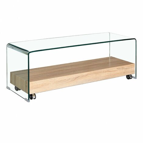 Meuble TV en verre transparent - ICE - Transparent