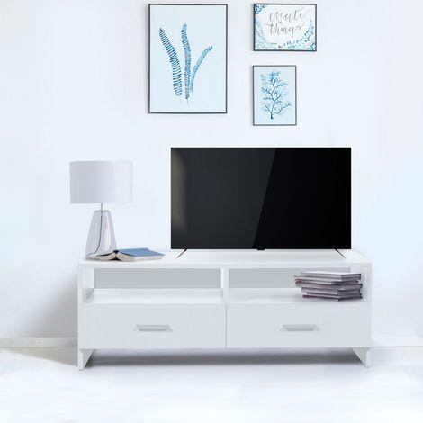 Meuble TV FALKO bois blanc