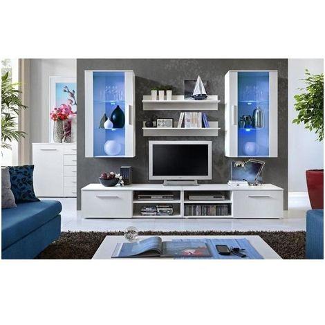 Meuble Tv Galino G Design Coloris Blanc Mat Meuble Moderne Et Tendance Pour Votre Salon