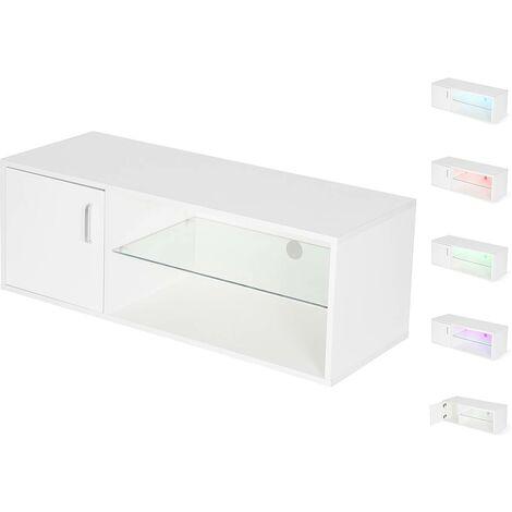 "Meuble TV LED ""Oswin"" - Blanc"