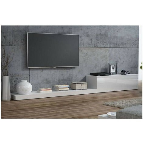 Meuble TV LIFE II 300cm blanc - Blanc